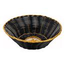"Winco PWBK-8R  8-1/2""  Polypropylene  Black  Round  Woven Basket  12 Dozen (Contains 1 Dozen)"