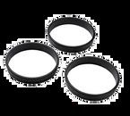 "Matfer Bourgeat 346707 3-1/2"" Dia. x 3/4""H Composite Tart Ring - 1 Pack"