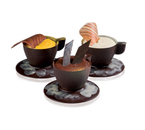 "Matfer Bourgeat 380255 Chocolate Mold 12 Oz. 2-1/6"" Dia. x 1-5/12""H 7 Espresso Cup Design Polycarbonate"