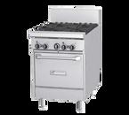 "Garland GF24-2G12T-NG 24"" Natural Gas GF Starfire Pro Series Restaurant Range - 70,000 BTU"