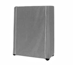 """Metro 18X48X62Uc Metro Cart Cover 48""""W Uncoated Knitted Polyester With Pvc Zipper White"""