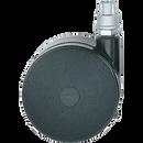 "Metro Hdc3Bb Super Erecta Stem Caster Swivel-Brake 2-1/2"" Dia. Black Nylon Housing With Non-Marking Polymer Tread 100 Lb. Capacity"