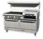 "Southbend 4607AA-2RR 60"" Gas Ultimate Restaurant Range - 204,000 BTU"