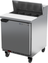 """Beverage Air SPE27HC-B 27"""" W One-Section One Door Sandwich Top Refrigerated Counter"""