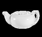 CAC China TPW-2 Super White Porcelain Accessories Teapot - 1 Dozen