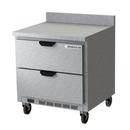 "Beverage Air WTRD32AHC-2-FIP 32""W One-Section One Door Worktop Refrigerator Backsplash"