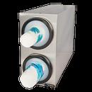 "San Jamar C2802 Stainless Steel 8-1/16""L x 24-3/8""W x 16""H Beverage Dispenser Box System"