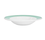 "CAC China R-3-G  8-3/4""  12 oz  Ceramic  Green  Round  Rainbow Soup Plate"