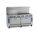 "Imperial IR-G72 NG 72"" Natural Gas Pro Series Restaurant Range - 190,000 BTU"