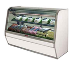 """Howard McCray R-CDS32E-8C-S-LED 98""""W Curved Glass Deli Meat & Cheese Service Case"""