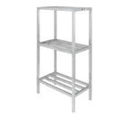 """Channel ED2048-3 Dunnage Shelving Unit Tubular 48""""W 2200 Lbs. Capacity Welded Aluminum Construction"""