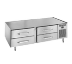 """Randell 20048-32-513 One-Section Stainless Steel Refrigerated Counter/Equipment Stand - 53""""W x 32-1/2""""D x 26""""H"""