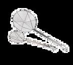 "Matfer Bourgeat 112298 9-1/2"" Round Fryer Skimmer"