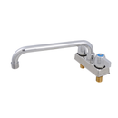 """John Boos PBF-4-D-10LF Deck Mount Economy Faucet with 4"""" Centers and 10"""" Swing Spout"""