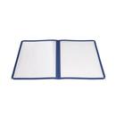 "Winco PMCD-9B 9-3/8"" x 12-1/8"" Blue Menu Cover"