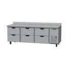 """Beverage Air WTRD93AHC-6 93""""W Three-Section Worktop Refrigerator"""