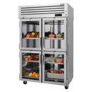 """Turbo Air PRO-50-4R-G-N 51.75"""" W Two-Section Glass Door Reach-In PRO Series Refrigerator"""