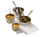 "American Metalcraft SHSP53 4-3/4"" Dia. Stainless Steel Mini Sauce Pot"