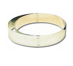 "Matfer Bourgeat 371420 14-1/8"" ID 2""H Stainless Steel Round Tart Ring"