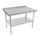 """John Boos UFBLG3618 36""""W x 18""""D 18/430 Stainless Steel Economy Work Table"""