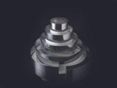 Matfer Bourgeat  681911  Round  Stainless Steel  WeDDing Cake Mold set - 1 set