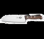 "Victorinox Swiss Army 6.8520.17 7"" Granton Edge Santoku Knife with Rosewood Handle"