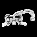 """Fisher 19488 8"""" Swing Spout Brass Backsplash Mount Faucet"""