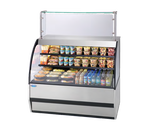 "Federal Industries SSRVS-5042 50""W Specialty Display Versatile Service Top over Refrigerated Self-Serve Deli Merchandiser"