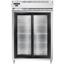 """Continental Refrigerator DL2RS-SS-SGD 52"""" W Two-Section Glass Door Reach-In Designer Line Refrigerator"""