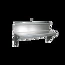"John Boos BHS516R6 Lavatory Shelf Wall-Mounted 16""W 16/300 Stainless Steel 4""H Riser In Rear Brackets & Mounting Hardware"