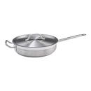 """Winco SSet-7 14"""" 7 Qt Stainless Steel / Aluminum Premium Induction Sauté Pan"""