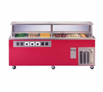 """Piper Products R2H-4CI Hot & Cold Reflections Serving Counter 96"""" x 30"""" x 36"""" Ice Cooled Cold Pan"""