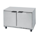 """Beverage Air UCRF50A-1-SA-A 50""""W Two-Section Solid Door Undercounter Freezer/Refrigerator"""