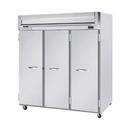 "Beverage Air HFP3-5S 78"" W Three-Section Solid Door Reach-In Horizon Series Freezer"