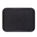 "Cambro 1418CWNS110 14"" Black Rectangle Camwear® Tray"
