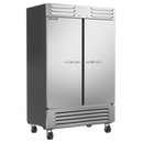 """Beverage Air SR2HC-1S 51.97"""" W Two-Section Solid Door Reach-In Slate Series Refrigerator"""