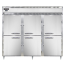 "Continental Refrigerator DL3FE-SS-PT-HD 85.5"" W Three-Section Solid Door Pass-Thru Designer Line Wide Freeze"