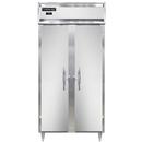 "Continental Refrigerator DL2FSE-SS 36.25"" W Two-Section Solid Door Reach-In Designer Slim Line Freezer"
