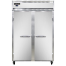"""Continental Refrigerator 2FS-SS 52"""" W Two-Section Solid Door Reach-In Freezer"""