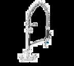 Fisher 68152 Stainless Steel Spring Style Backsplash Mount Pre-Rinse Unit