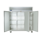 "Traulsen G30012 76.31""W Three-Section Solid Door Reach-In Dealer's Choice Refrigerator"