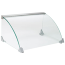 """Winco EHDG-5SG Glass Spectrum Hot Dog Grill 19-7/8"""" X 9-1/4"""" X 8-3/16"""" With Sneeze Guard"""