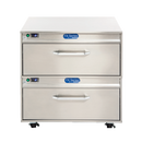 """Randell FX-2WSREA-290 35""""W Two Drawer Stainless Steel FX Series Flexible Refrigerator or Freezer Work Top"""