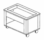 """Piper Products 4-HCM Elite Hot/Cold Food Serving Counter 60"""" x 36"""" x 28"""" Mechanically Cooled"""