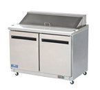 """Arctic Air AST48R 48.25"""" W Two-Section Three Door Sandwich/Salad Prep Table"""