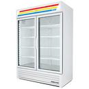 True GDM-49-HC~TSL01 Two Section Hinged Doors Refrigerated Merchandiser - 115V