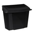 "Alpine ALP451-BLA 9""W x 5""D x 10""H Surface Mounted Black ABS Plastic Sanitary Napkin Receptacle"