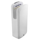 "Alpine ALP404-20-WHI White 11.75""W x 7.25""D x 27.5""H Oak Hand Dryer Replaceable HEPA Filter - 220v"