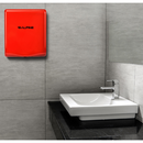 Alpine ALP405-10-RED Red Willow Hand Dryer with HEPA Filter - 110-120V 300-1400W