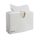 "San Jamar T1740WH 12""W x 5-1/2""D x 8-1/2""H White Plastic Countertop Towel Dispenser"